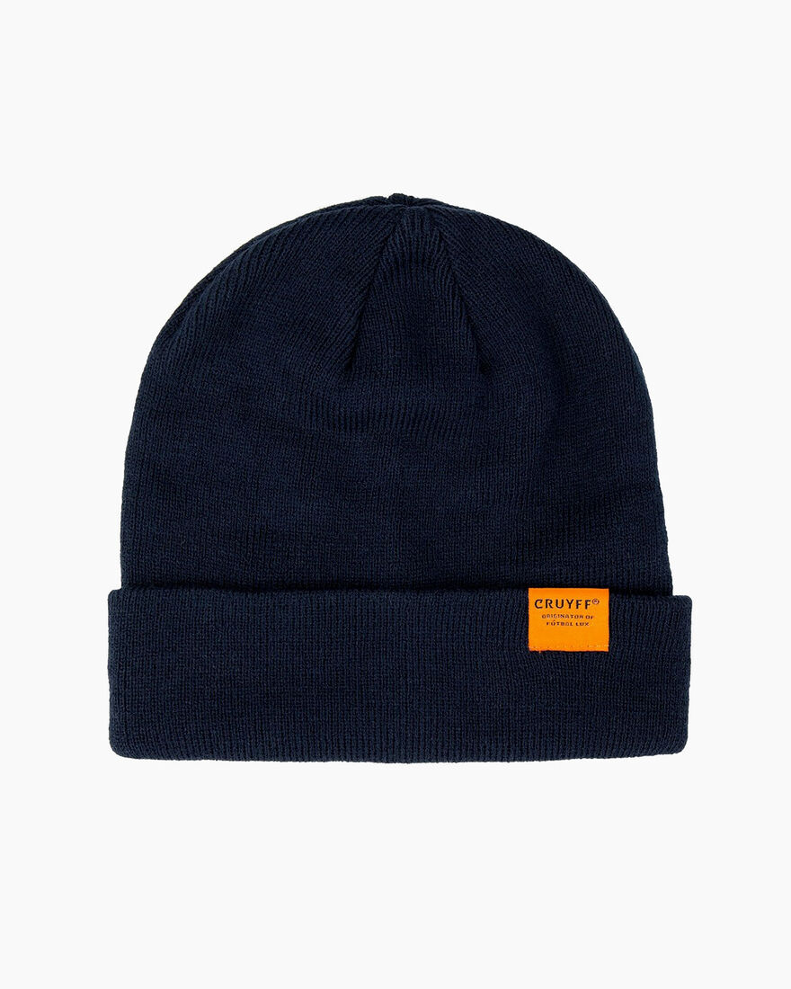 Label Beanie, Navy, hi-res