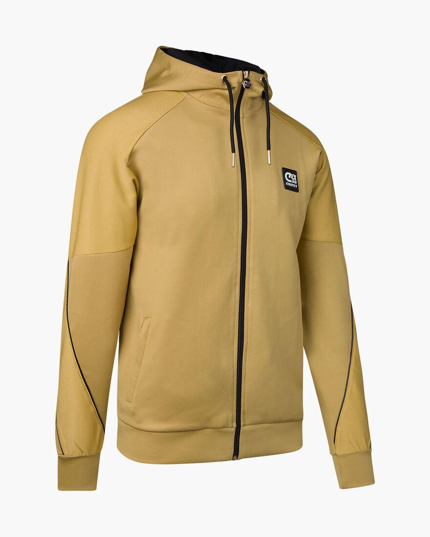 Gaspar Zip Thru - Navy/Gold - 95% Polyester / 5% E, Gold, hi-res