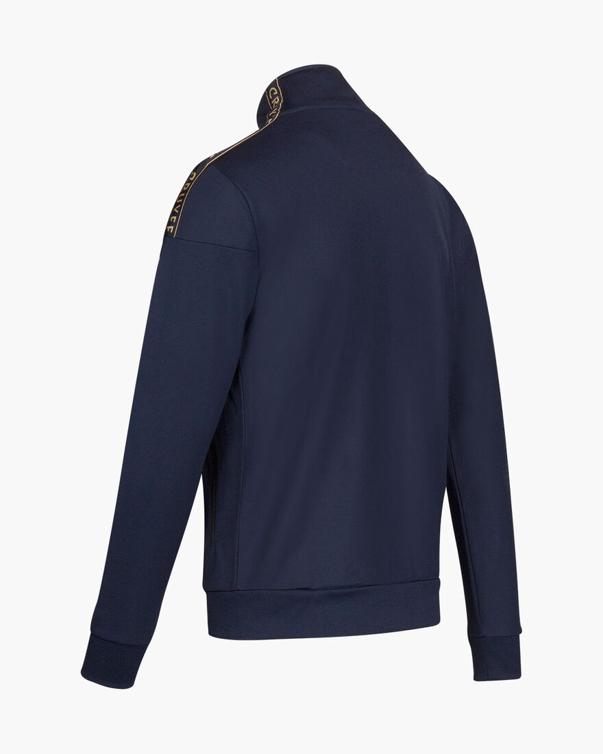 Valentini Track Top - Navy/Gold - 65% Polyester / , Navy, hi-res