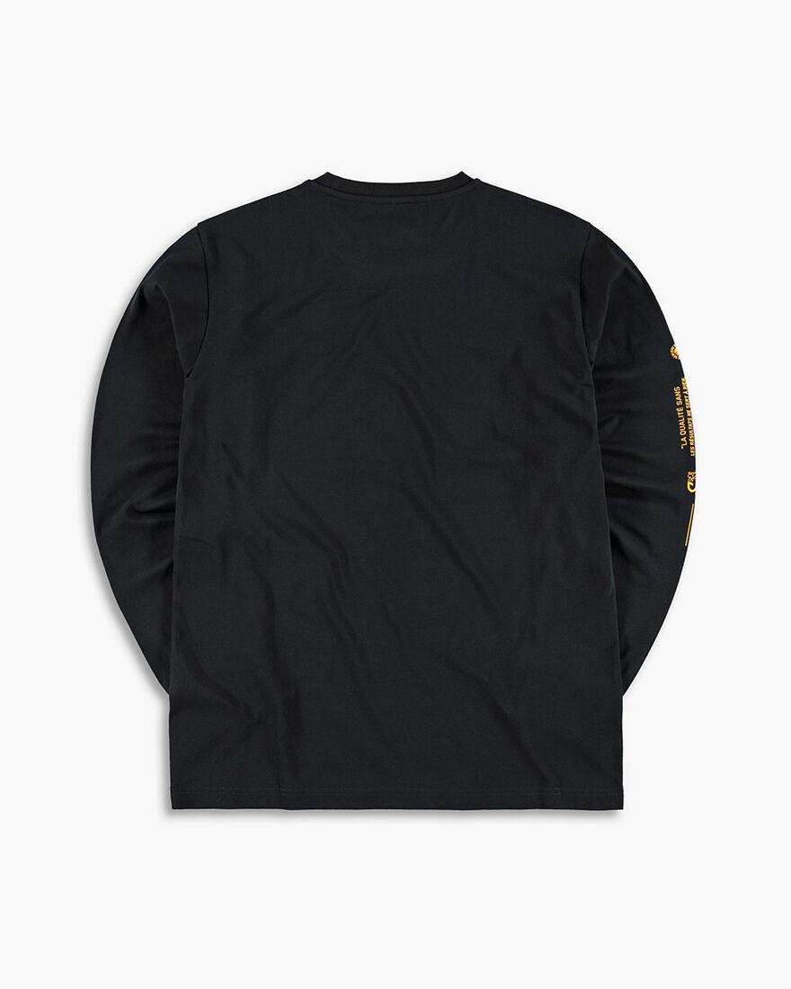 Cruyff x Banlieue Tee LS - Navy - 95% Cotton / 5% , Black, hi-res