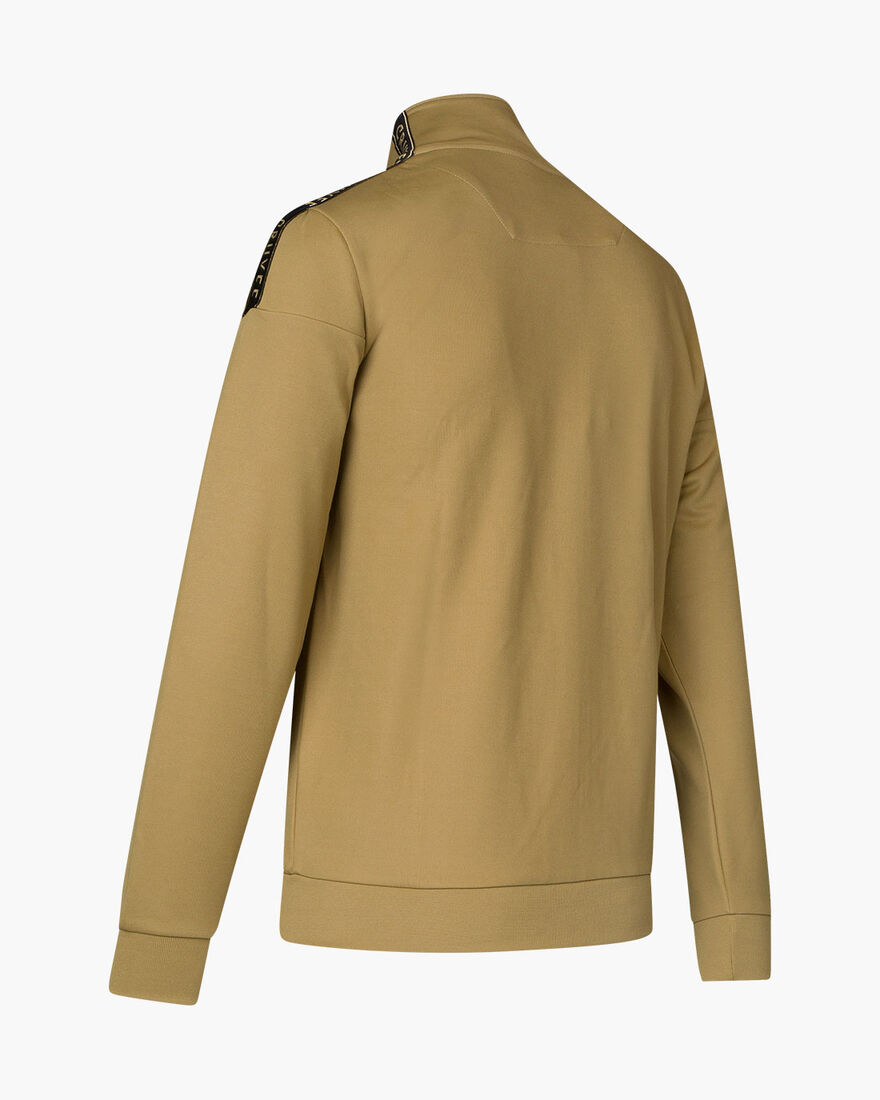 Valentini Track Top - Charcoal Muline - 65% Polyes, Gold, hi-res