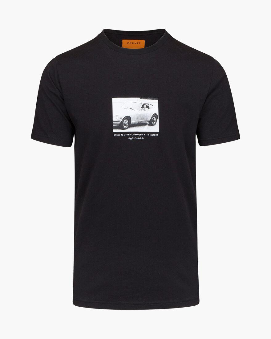 Lucio SS Tee - Black - 95% Cotton / 5% Elastane, Black, hi-res