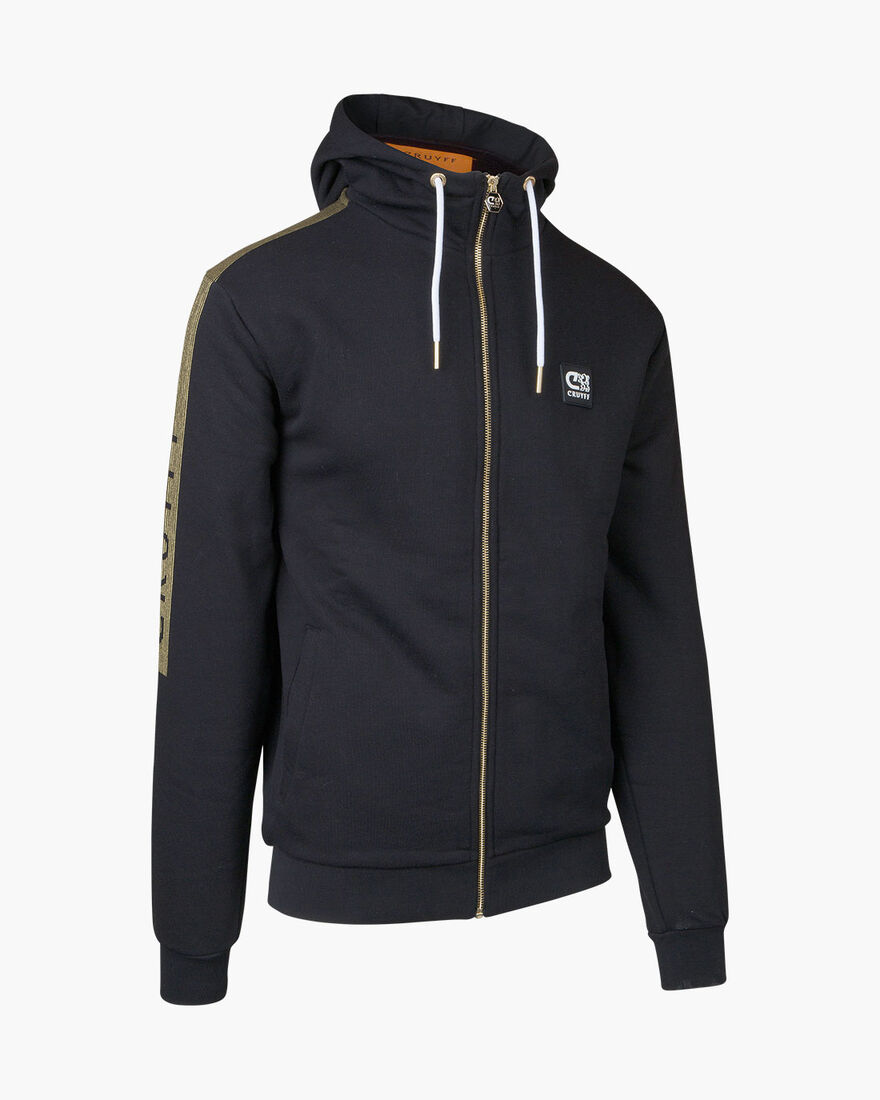Hellenburg FZ Hood  - Grey Melange - 65% Polyester, Black/Gold, hi-res