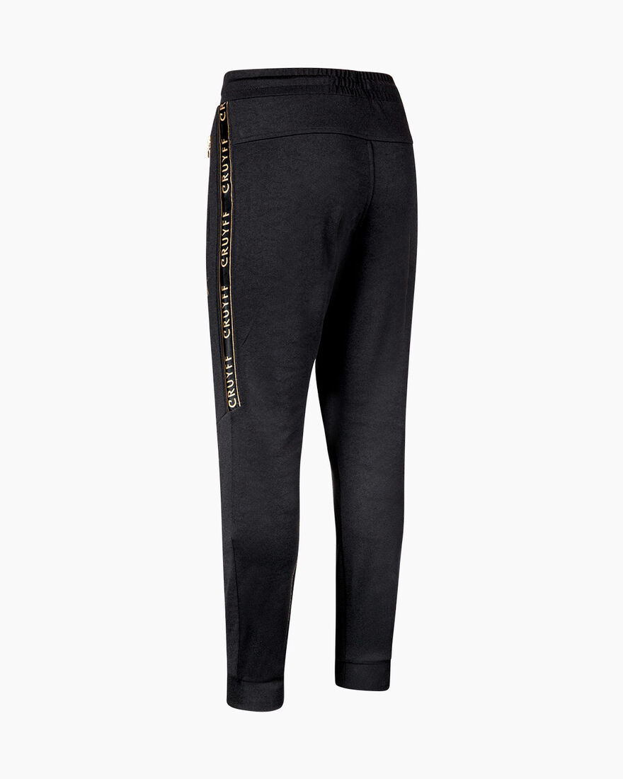 Valentini Track Pant - White/Gold - 65% Polyester , Black, hi-res