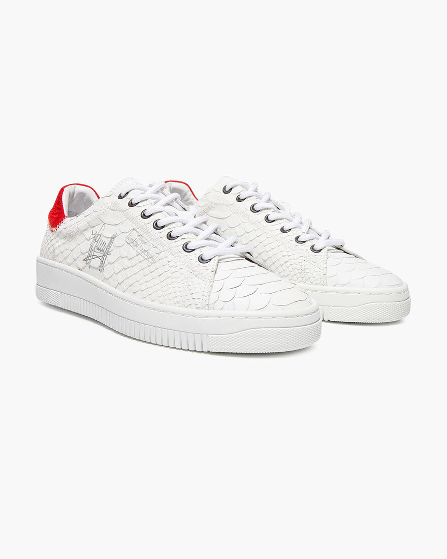 Joan - Navy - Camouflage/Ray leather, White/Red, hi-res