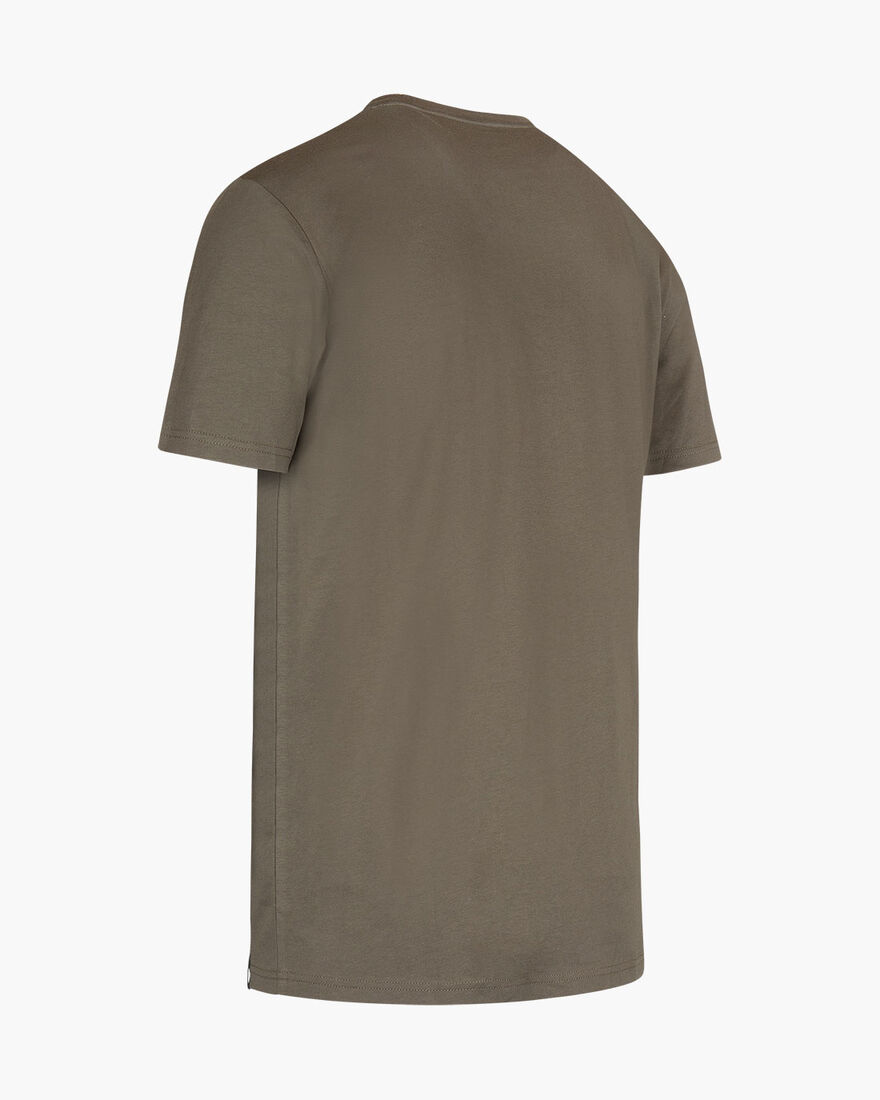 Joaquim Cotton Tee - Olive - 100% Cotton Jersey, Army green, hi-res