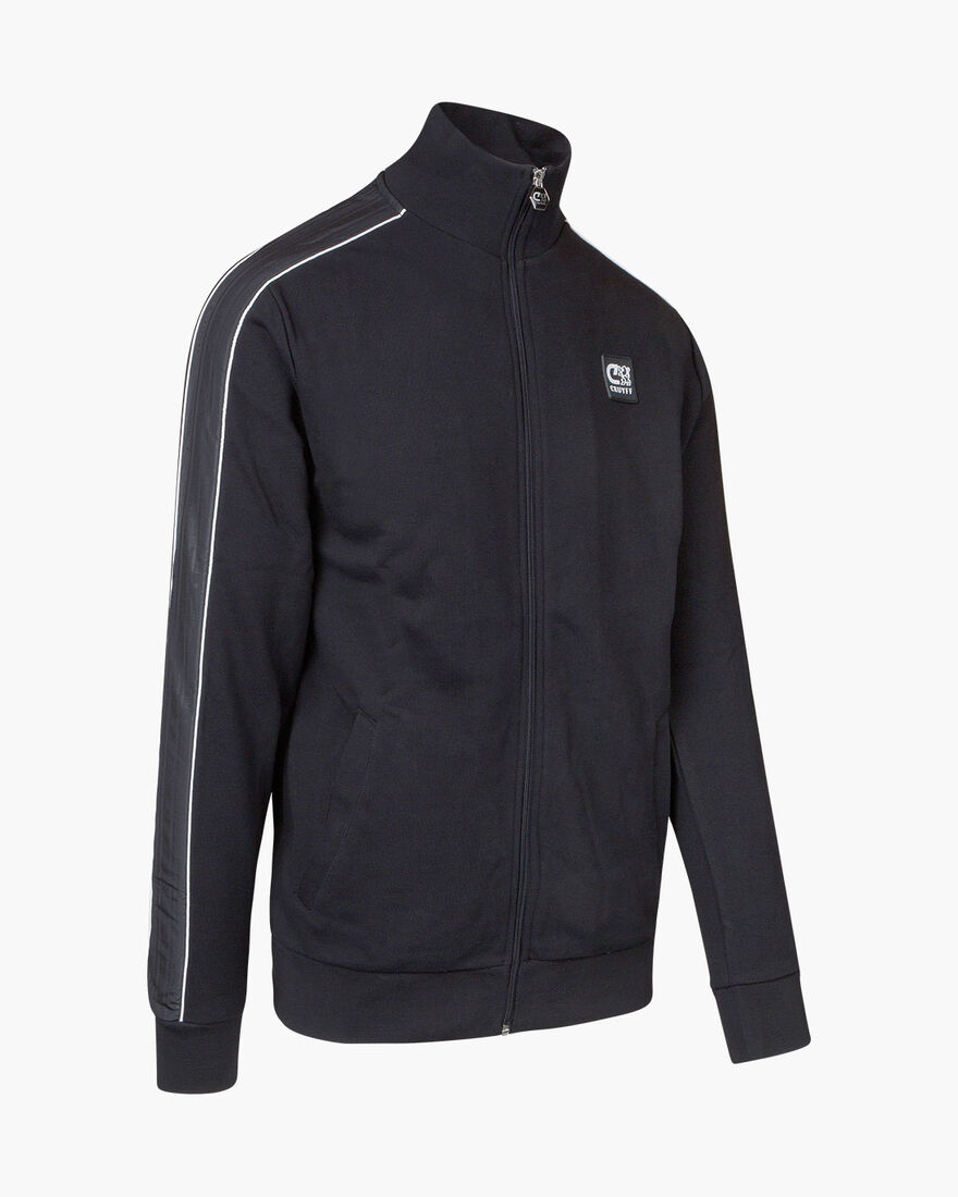 Joan track top - Black - 80% Cotton/ 20% Polyester, Black, hi-res