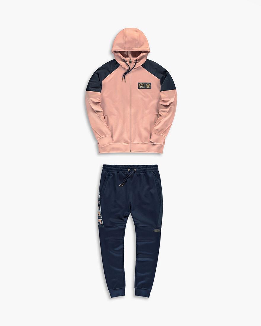 Cruyff x Banlieue Scuba Suit  - Pink / Navy - 95% , Pink, hi-res