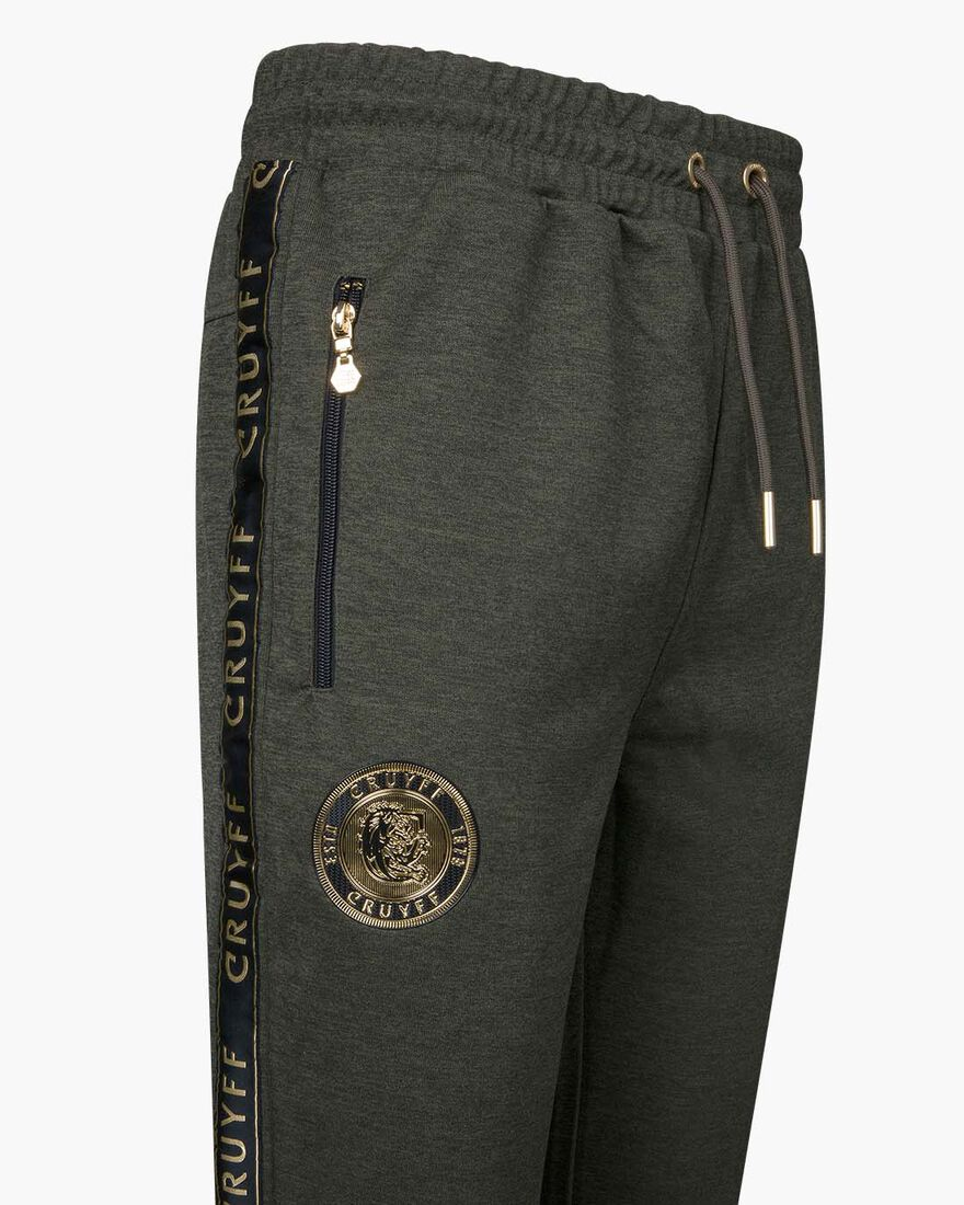 Valentini Track Pant - Black/Gold - 65% Polyester , Army green, hi-res
