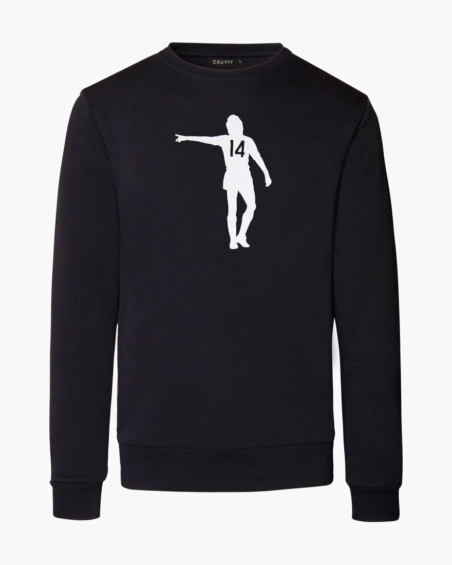 Maestro White Crewneck, Black, hi-res