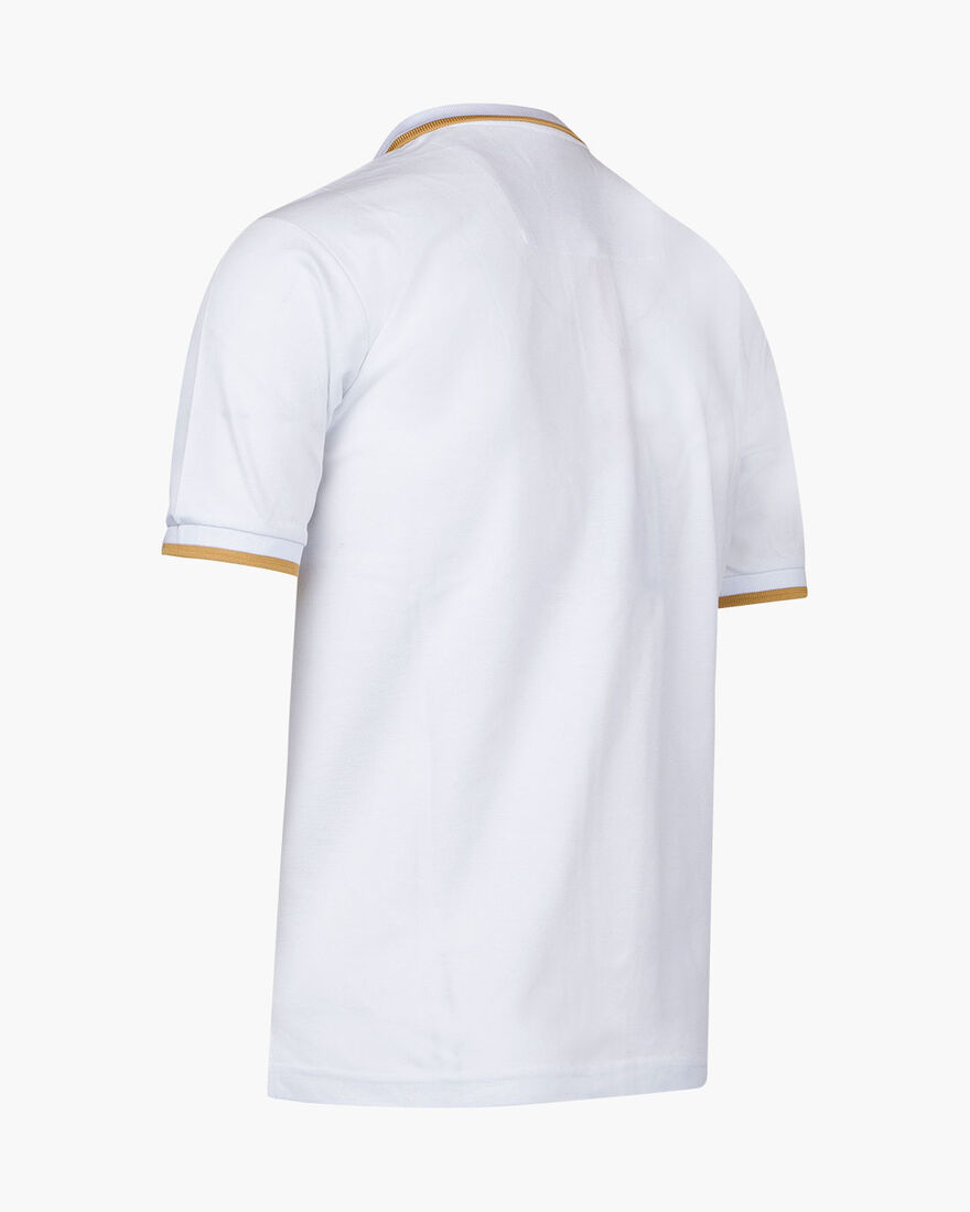 Maestro Mercerised Polo, White, hi-res