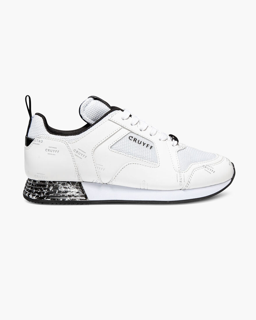 Lusso - White - Netmesh/Icon Graphic, White/Silver, hi-res