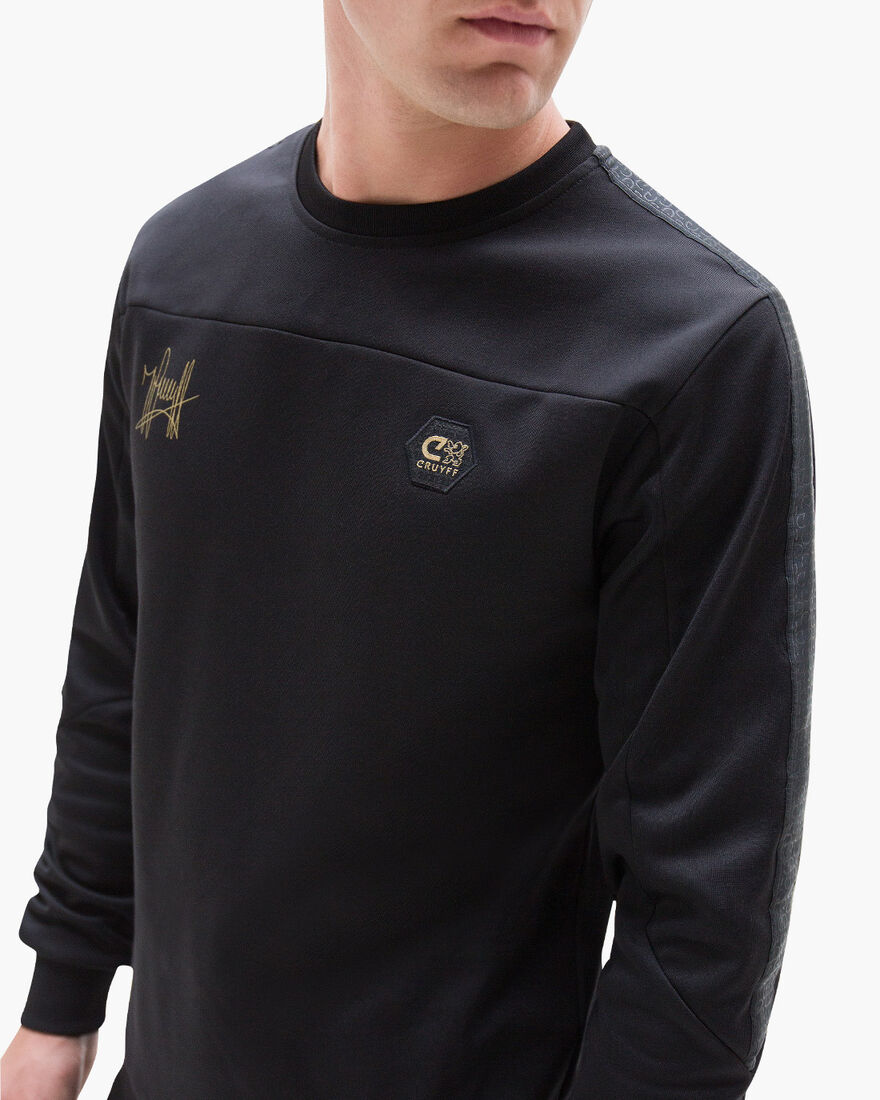 Carreras Crewneck, Black, hi-res