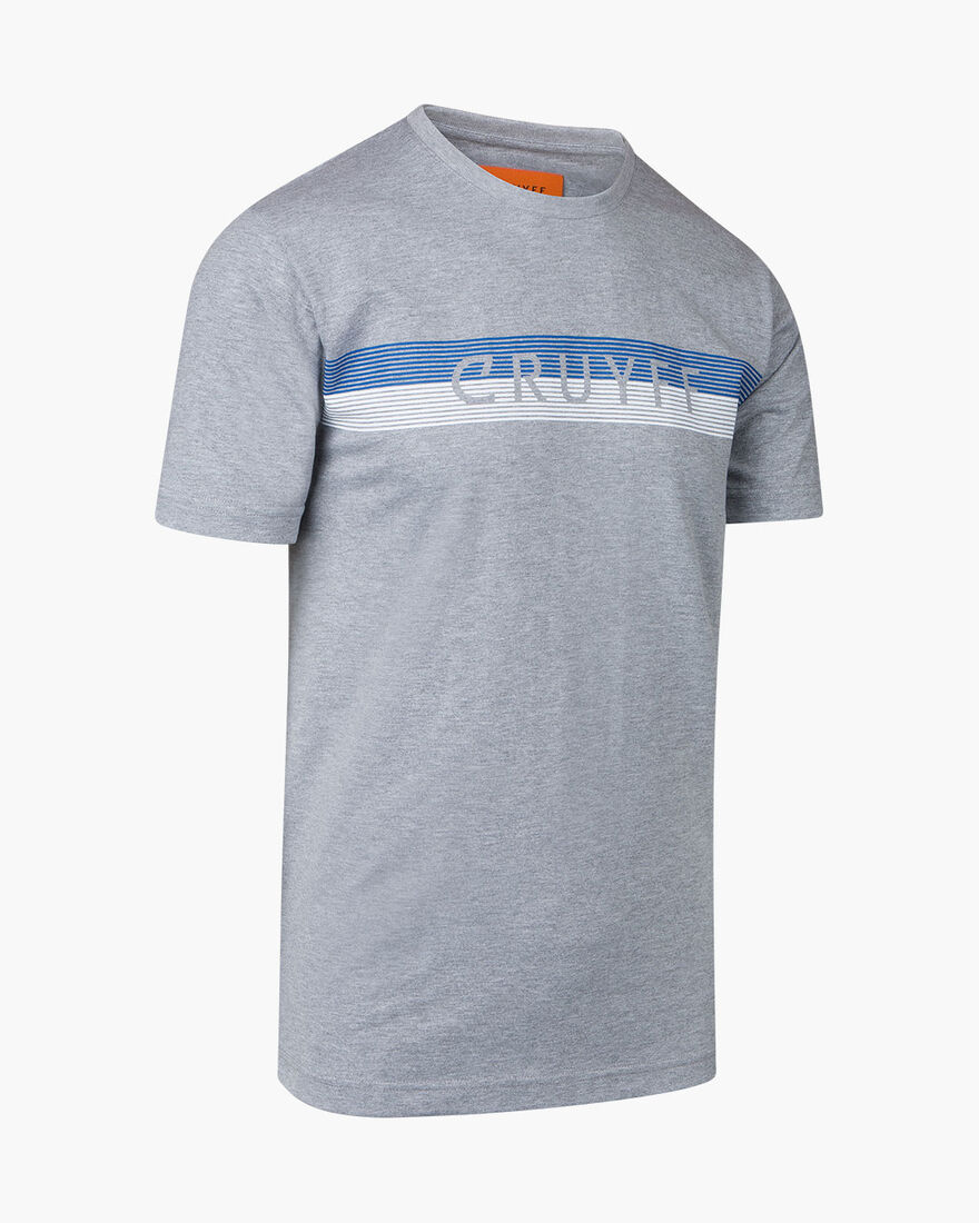 Hellenburg SS Tee - Grey Melange - 100% Cotton, Grey, hi-res