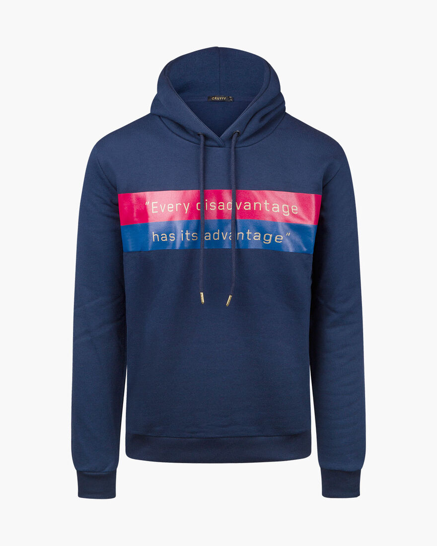 Advantage Hoodie - Navy - 50% Cotton/50% Polyester, Navy, hi-res