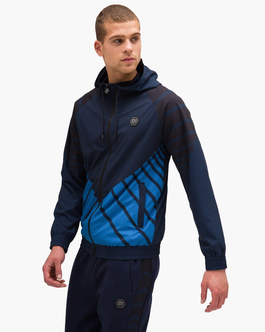 Devante Zip Thru - Navy/Royal - 95% Polyester / 5%, Navy, hi-res