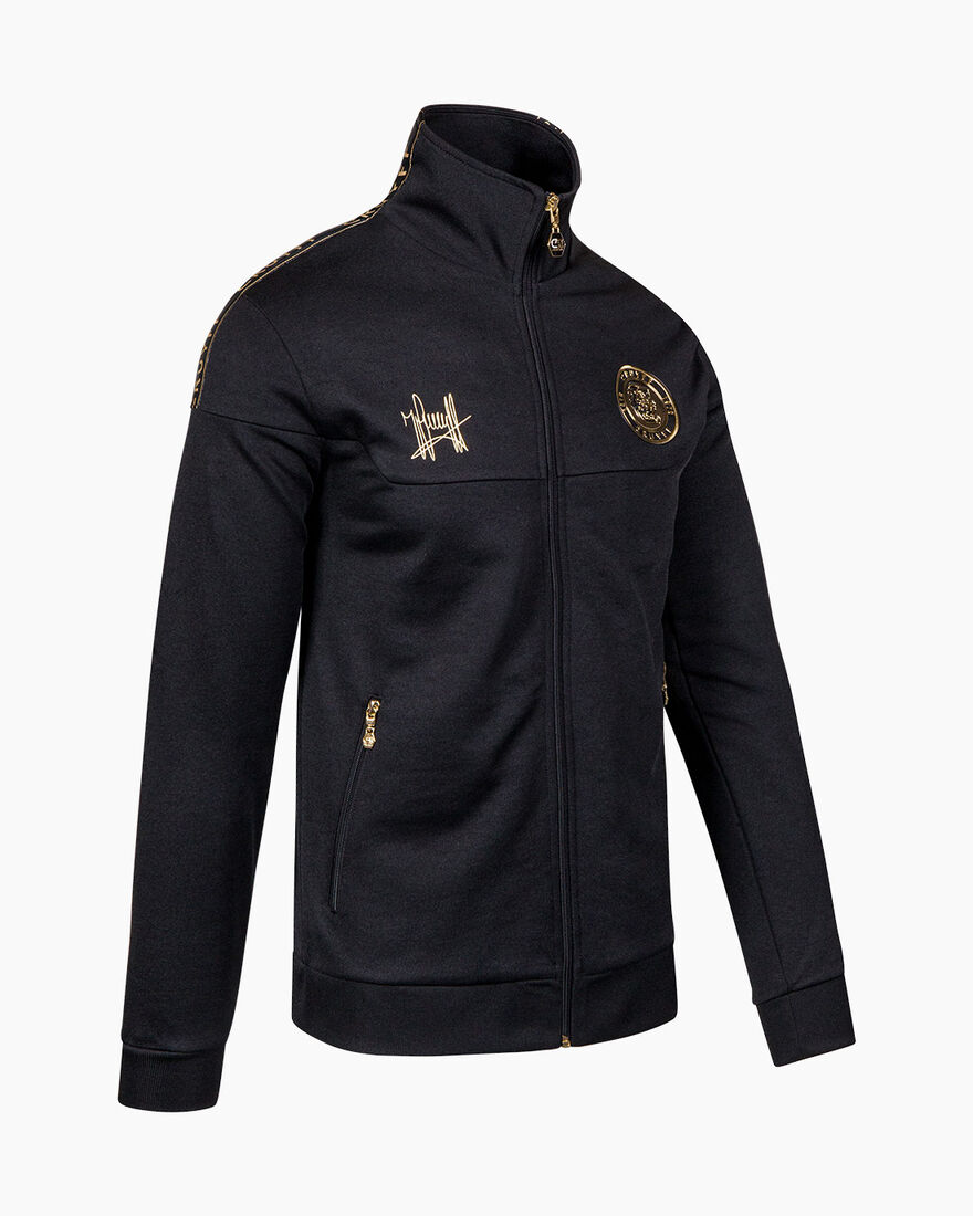 Valentini Track Top - Navy/Gold - 65% Polyester / , Black, hi-res