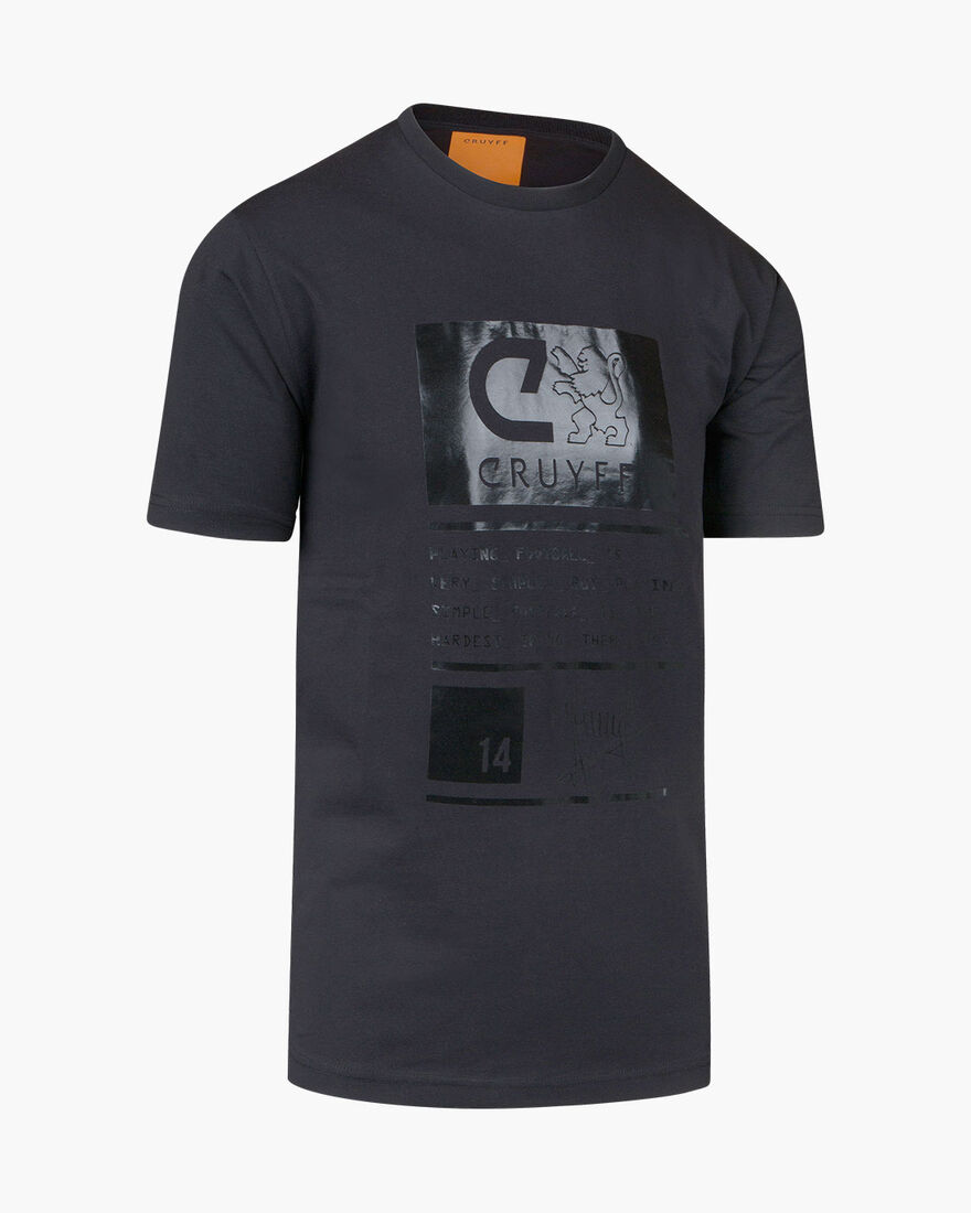 Gaspar SS T-Shirt  - Black/Black - 95% Cotton / 5%, Black, hi-res