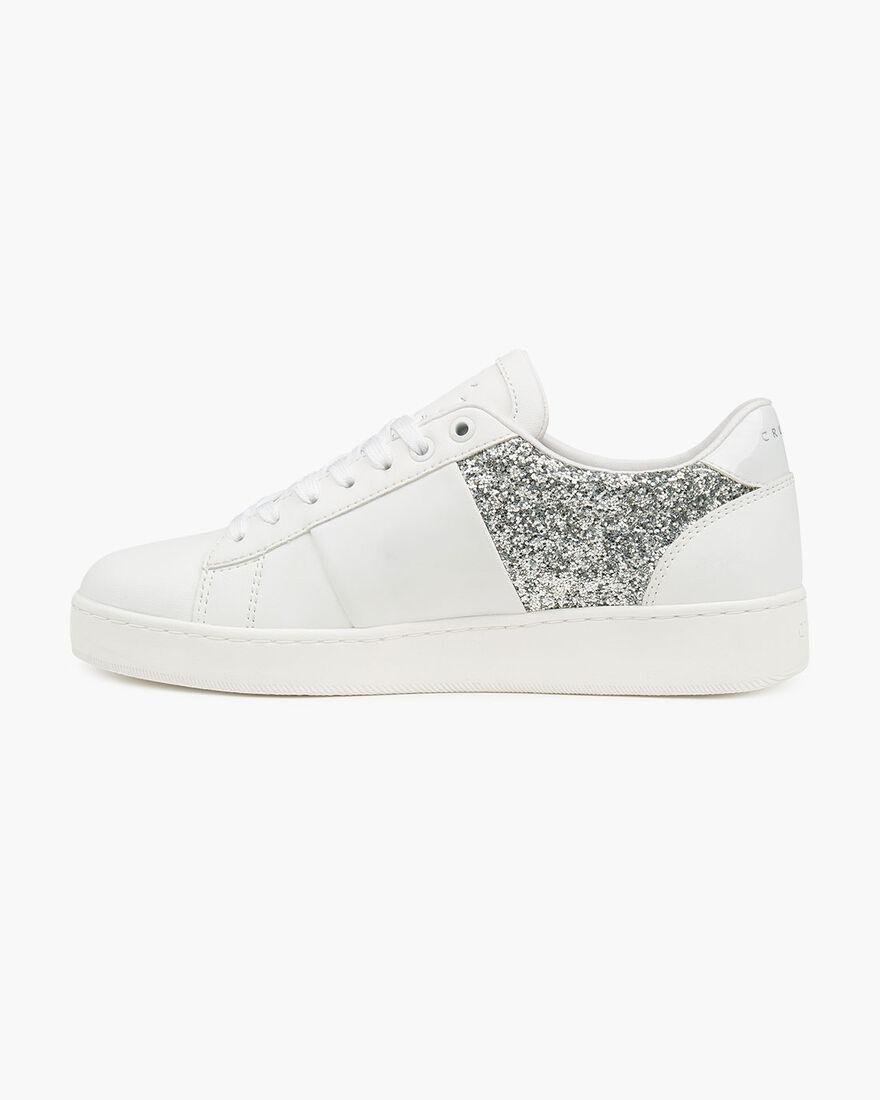 Citta Glam - White - Soft Grain Pu/ Glitter Stone , White, hi-res