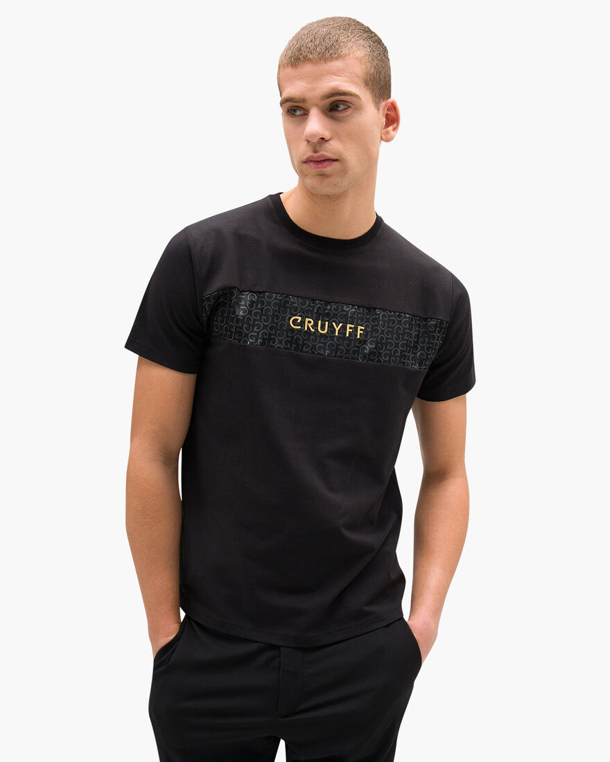 Augusti SS Tee - Black - 95% Cotton / 5% Elastane, Black, hi-res