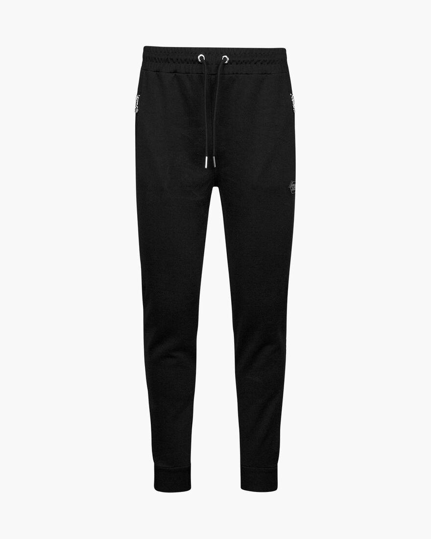 Valentini Track Pant - Black/Silver - 65% Polyeste, Black, hi-res