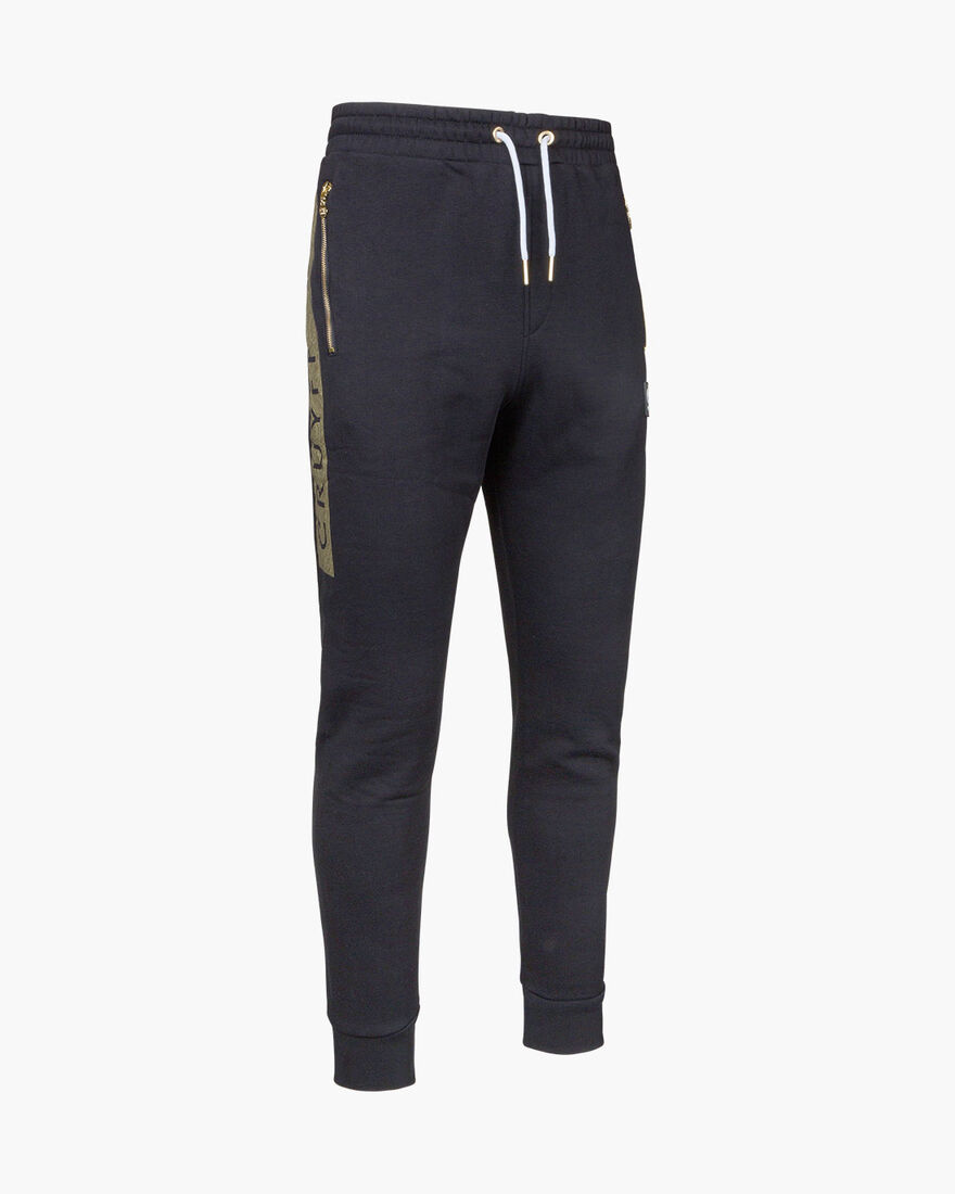 Hellenburg Pant - Black/Gold - 65% Polyester / 35%, Black/Gold, hi-res