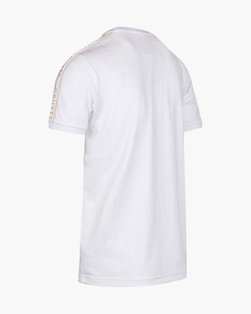 Valentini T-Shirt - White/Gold - 100% Polyester, White/Gold, hi-res