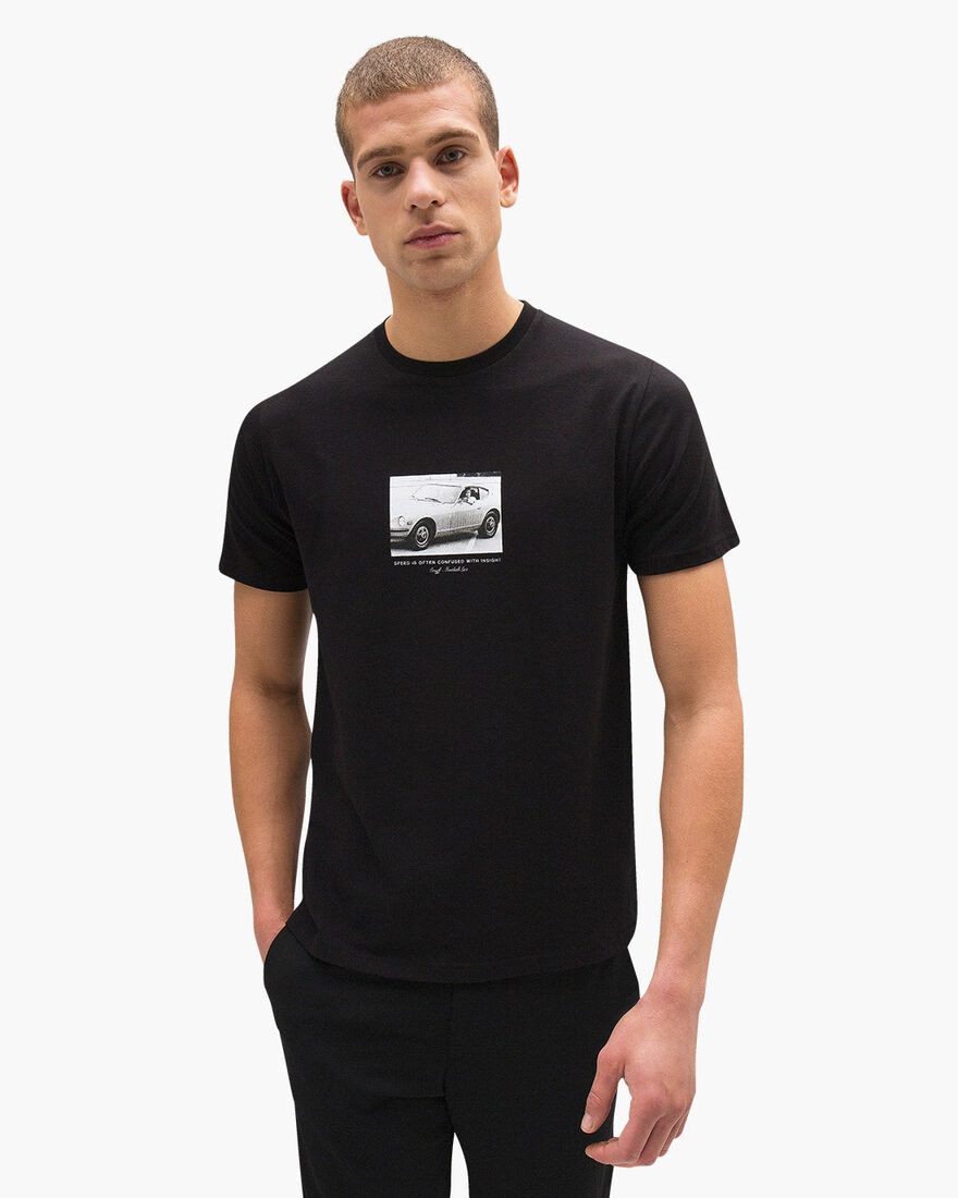 Lucio SS Tee - Black - 95% Cotton / 5% Elastane, Black, hi-res