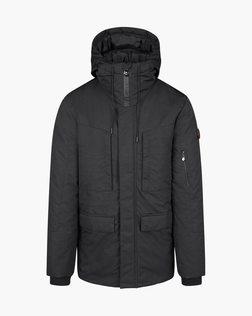 Romano Parka Jacket - Black - 100% Polyamide, Black, hi-res