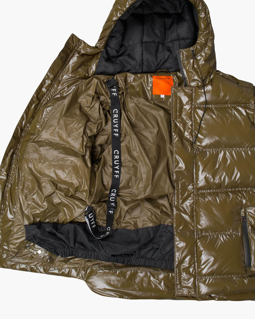 Trentini Puffer Jacket - Black - 100% Polyester, Army green, hi-res