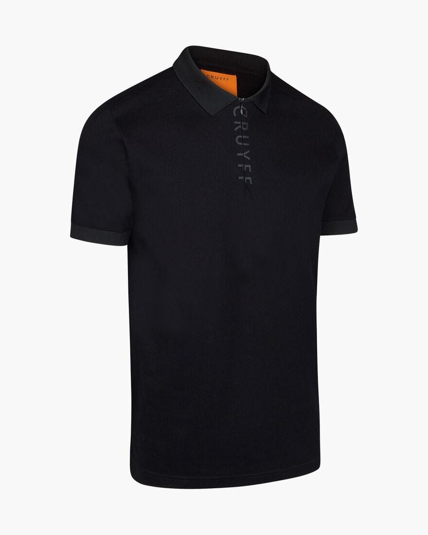 Ruben Polo - Black - 100% Cotton pique, Black, hi-res