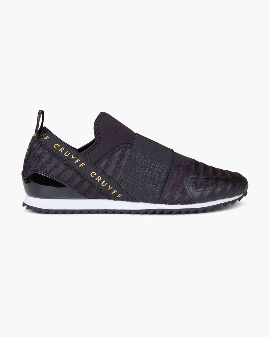 Elastico - Black/Gold - Stretch Mesh/Patent, Black/Gold, hi-res