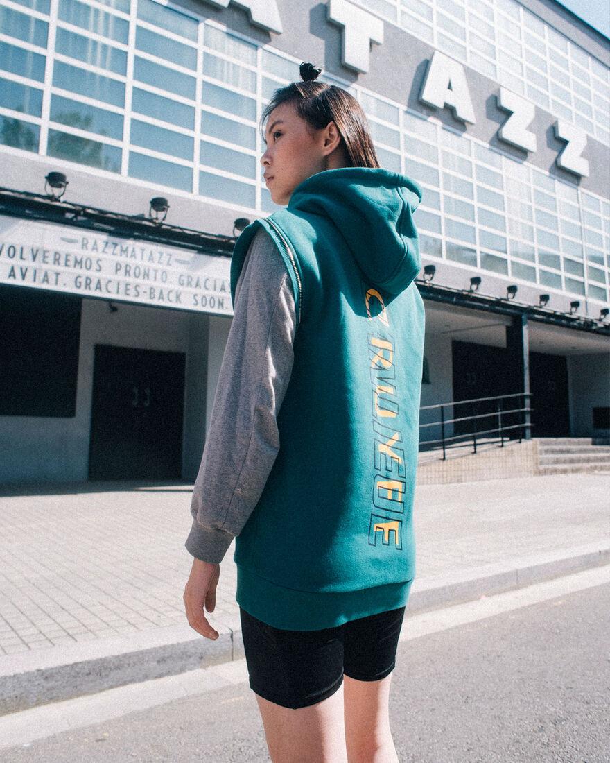 Cruyff x Banlieue  Zip-thru Hood - Green - 65% Cot, Green, hi-res