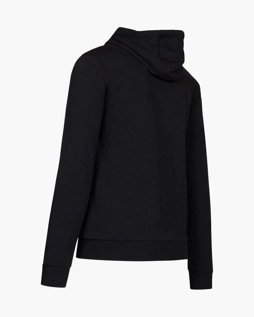 Hernandez Zip thru Hood - Black - 100% Cotton, Black, hi-res