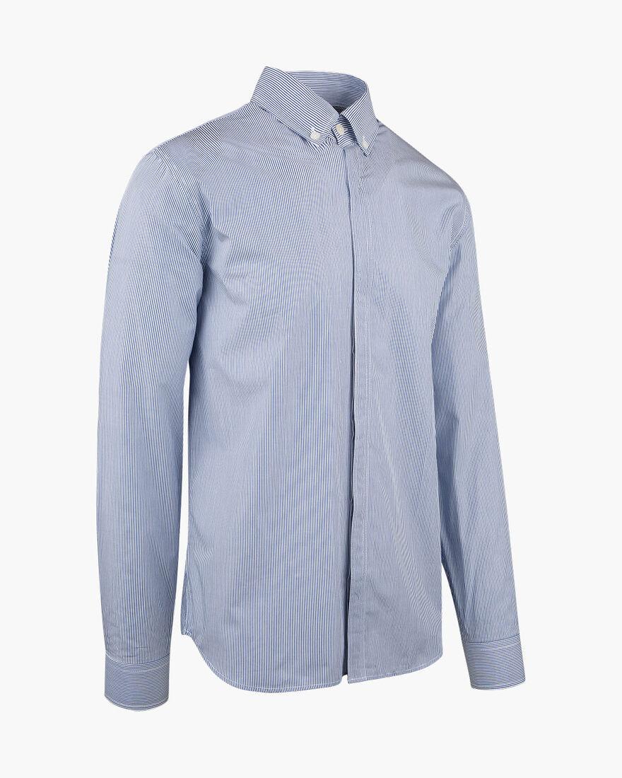 Aragon King Stripe Shirt, Blue/White, hi-res