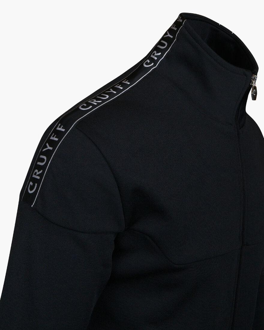 Valentini Track Top - Black/Silver - 65% Polyester, Black, hi-res
