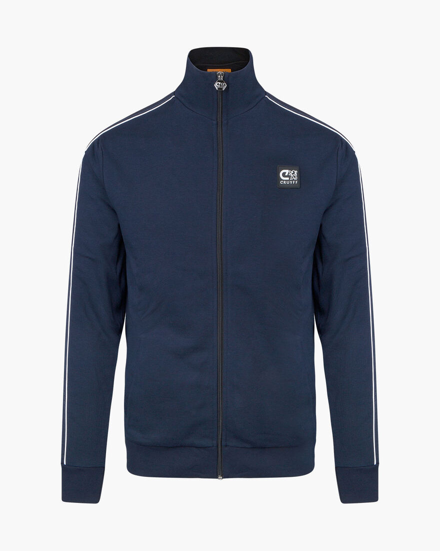 Joan track top - Black - 80% Cotton/ 20% Polyester, Navy, hi-res
