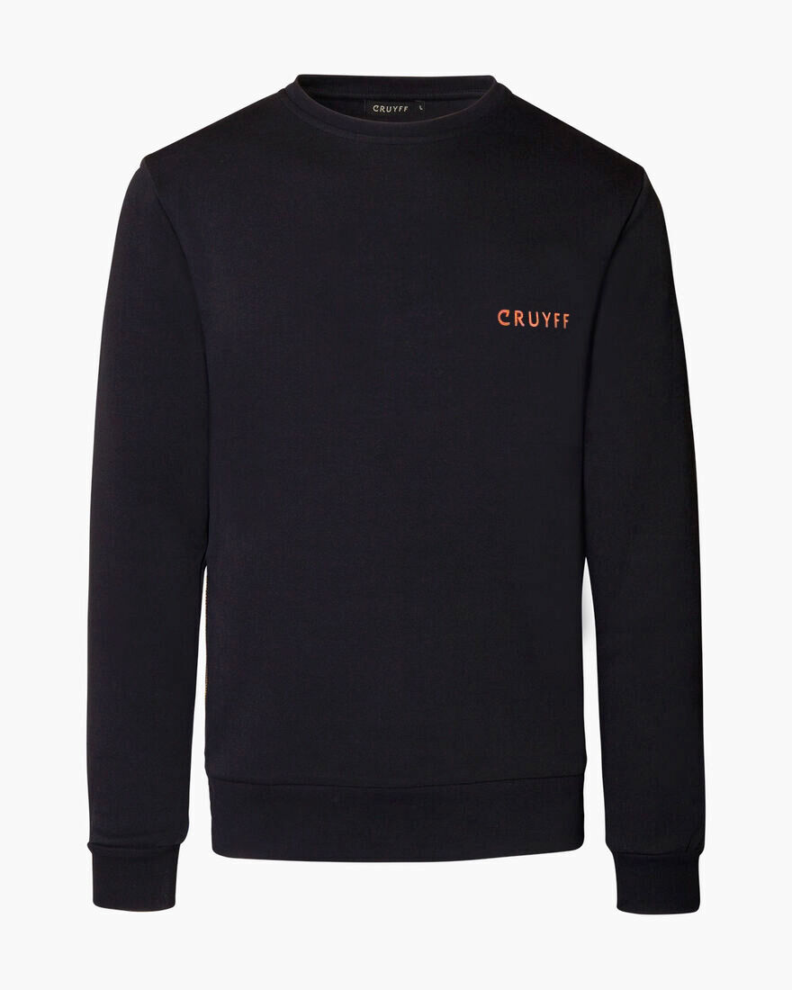 Cruyff Quoted Crewneck, Black, hi-res
