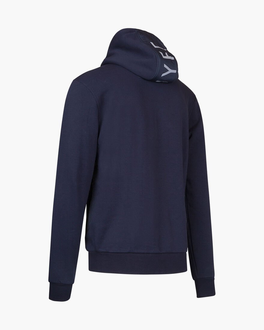 Bassa zip-thru hood, Navy, hi-res
