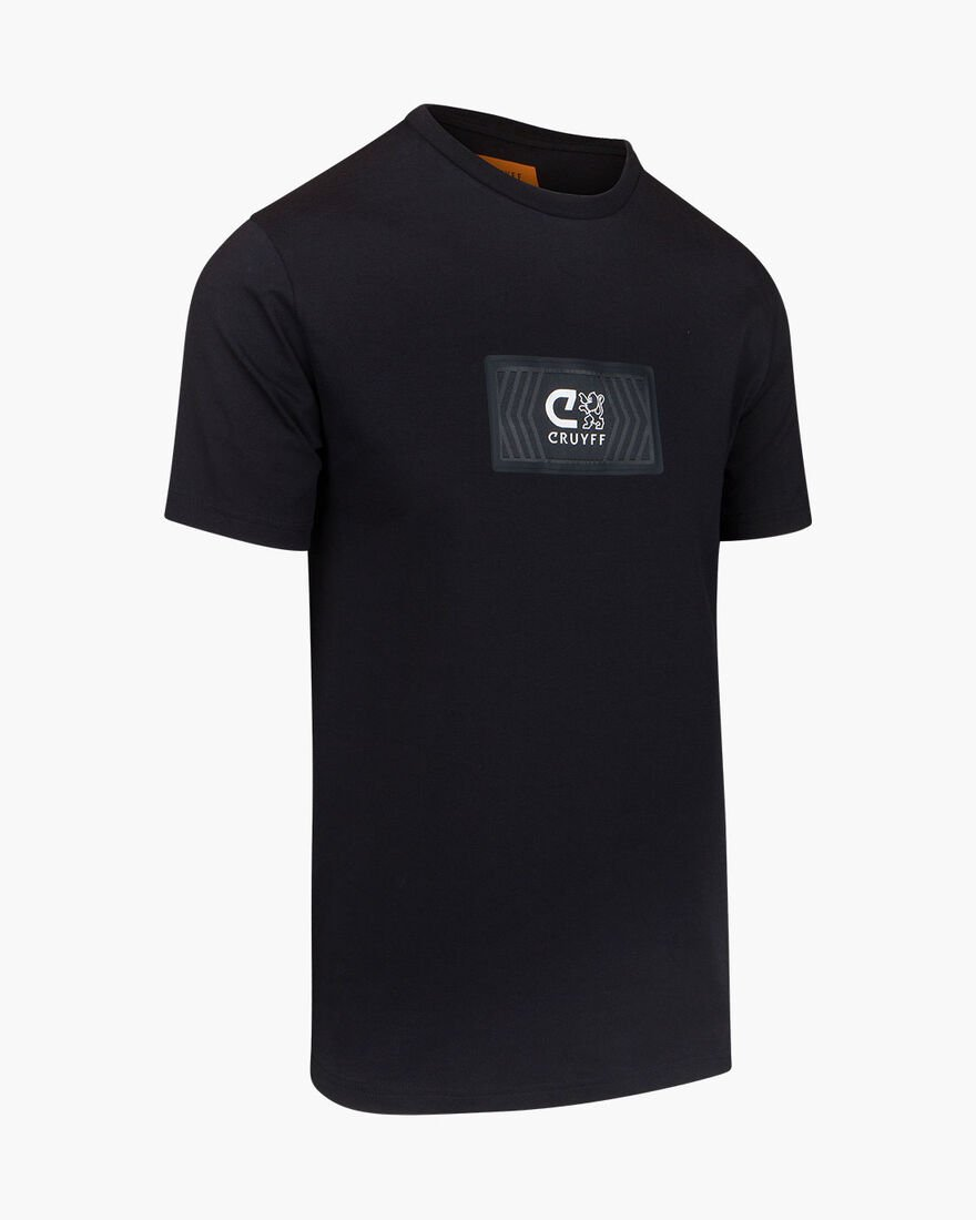 Lusso SS Tee - White - 95% Cotton / 5% Elastane, Black, hi-res