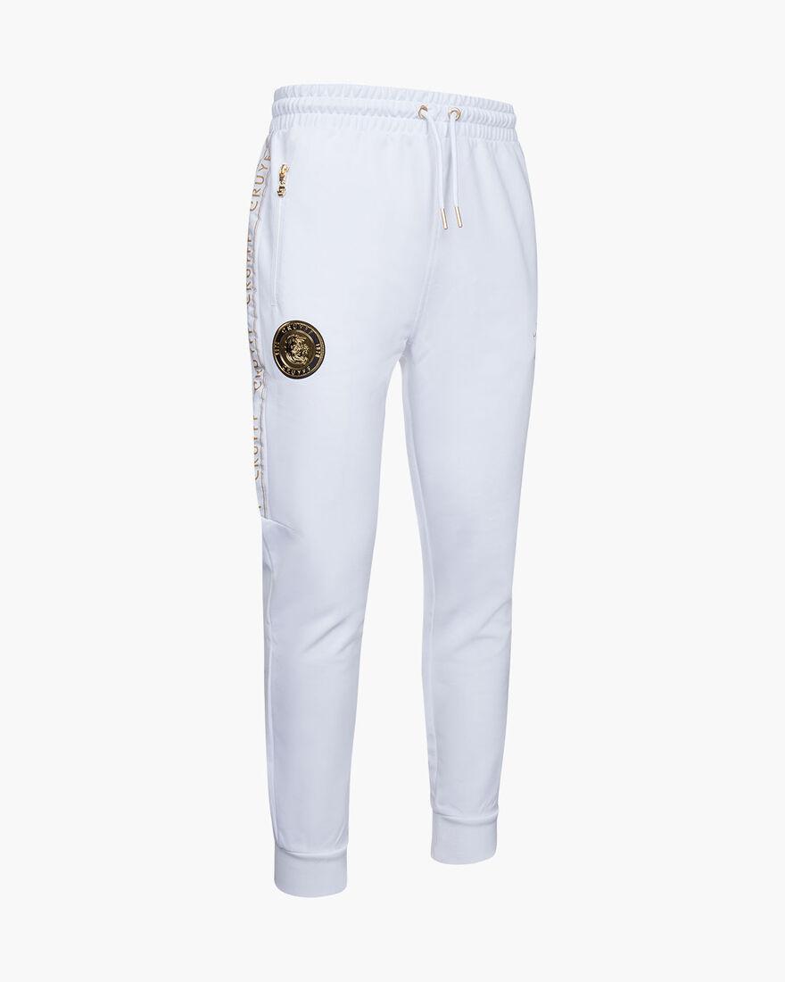 Valentini Track Pant - White/Gold - 65% Polyester , White/Gold, hi-res