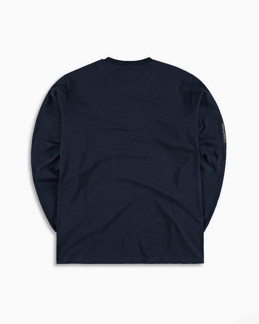 Cruyff x Banlieue Tee LS - Navy - 95% Cotton / 5% , Navy, hi-res