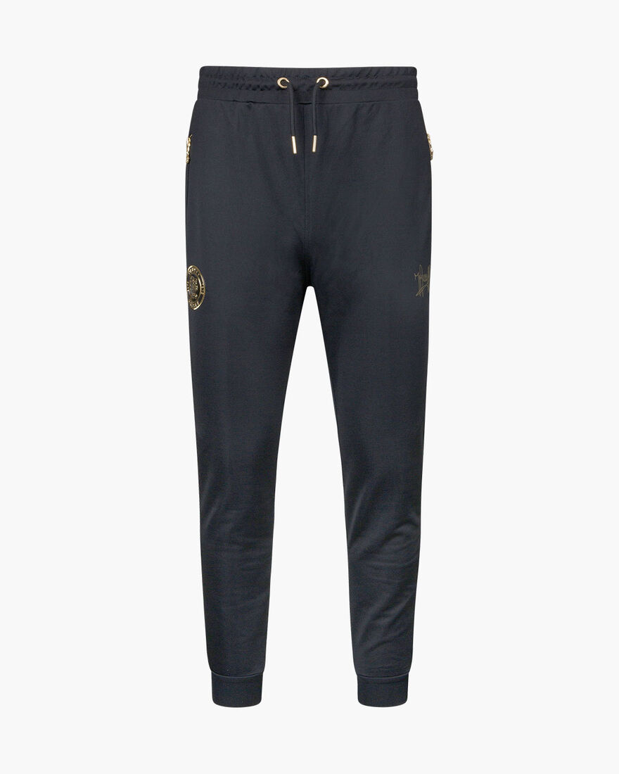 Valentini Track Pant - Black/Gold - 65% Polyester , Black/Gold, hi-res