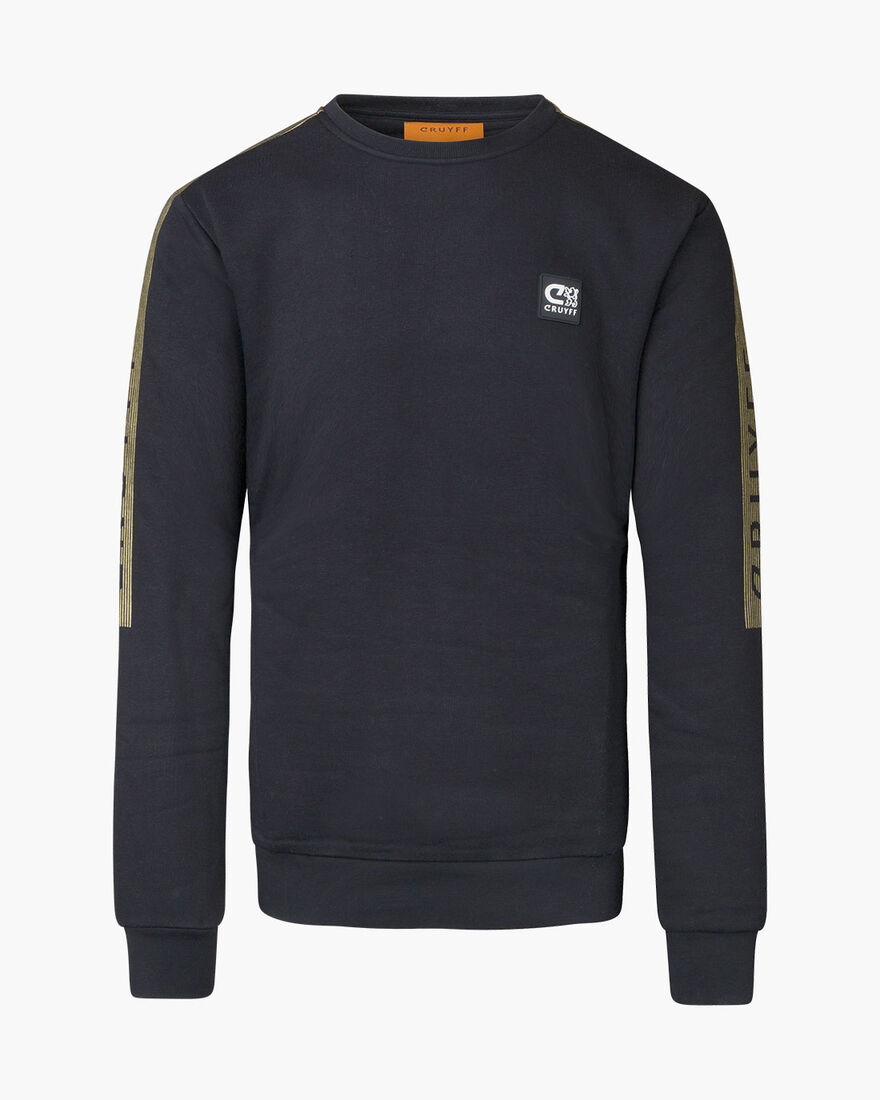 Hellenburg Sweat - Black/Gold - 65% Polyester / 35, Black/Gold, hi-res