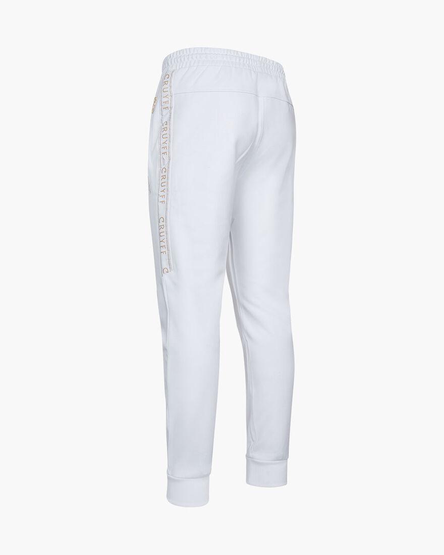 Valentini Track Pant - Black - 65% Polyester / 35 , White/Gold, hi-res