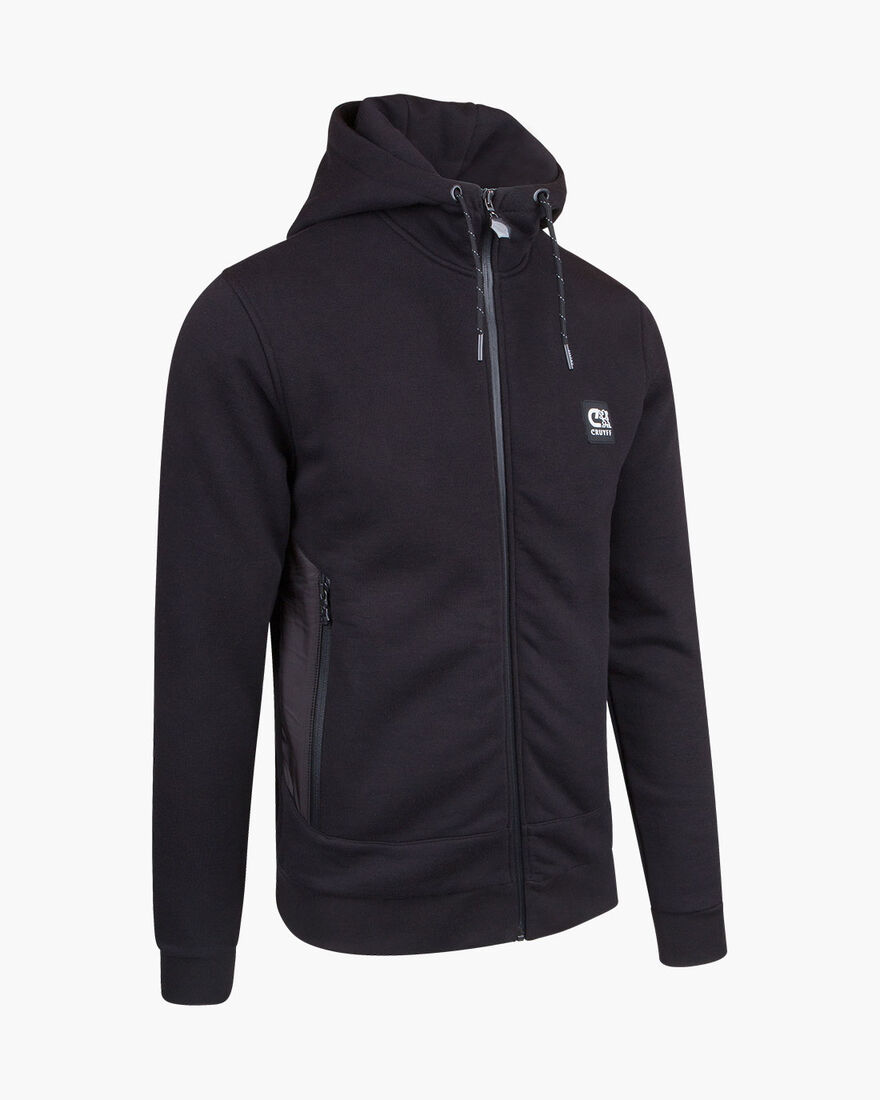Bassa zip-thru hood, Black, hi-res