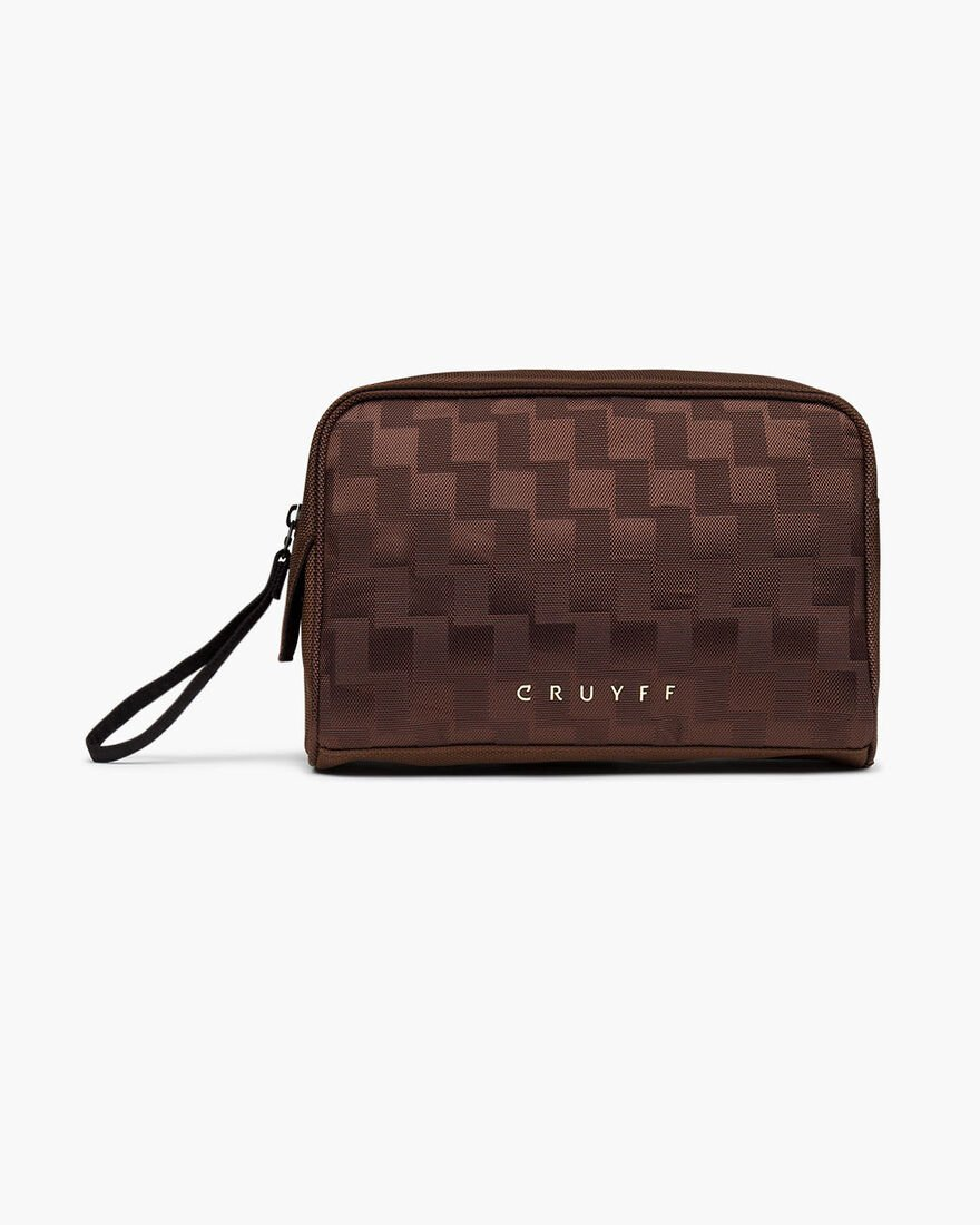 Smart Wash Bag, Brown, hi-res