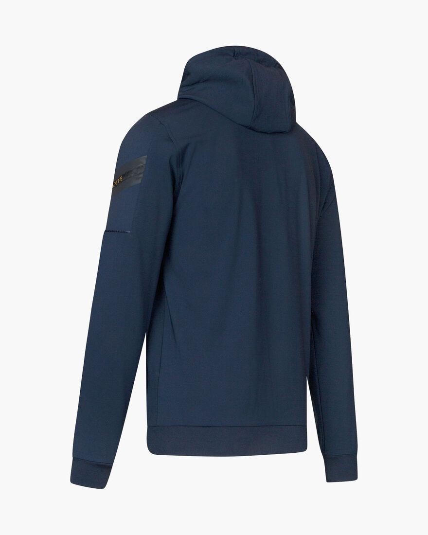Paolo FZ Hood - Navy/Gold - 95% polyester / 5% ela, Navy, hi-res
