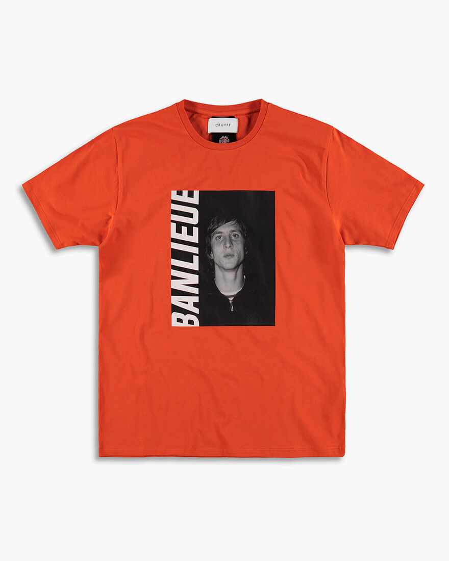 Cruyff x Banlieue Tee  SS - Black - 100% Cotton, Orange, hi-res