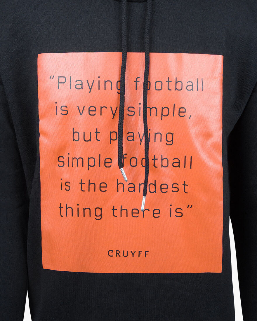 Playing Football Hoodie - Black - 50% Cotton/50% P, Black, hi-res
